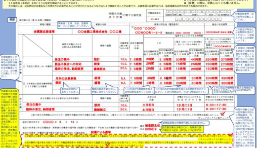 【押印・署名廃止、チェックボックス新設】36協定届変更【2021年(令和3年)4月から】